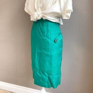 Vintage Skirts - VTG FLORA pencil skirt